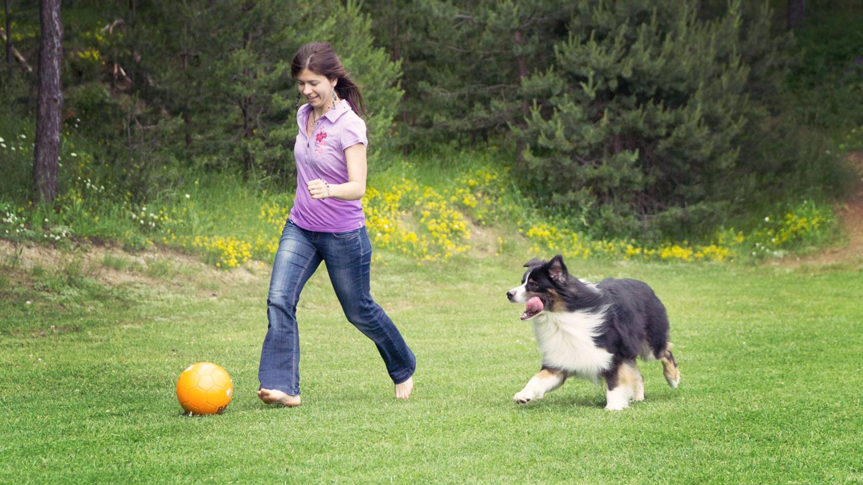 Игра с кучето
